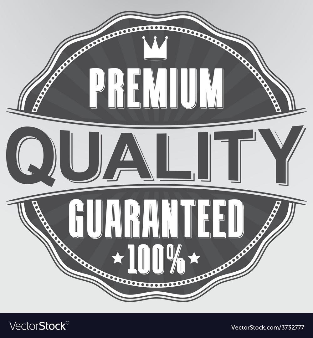 Premium quality 100 guaranteed retro label