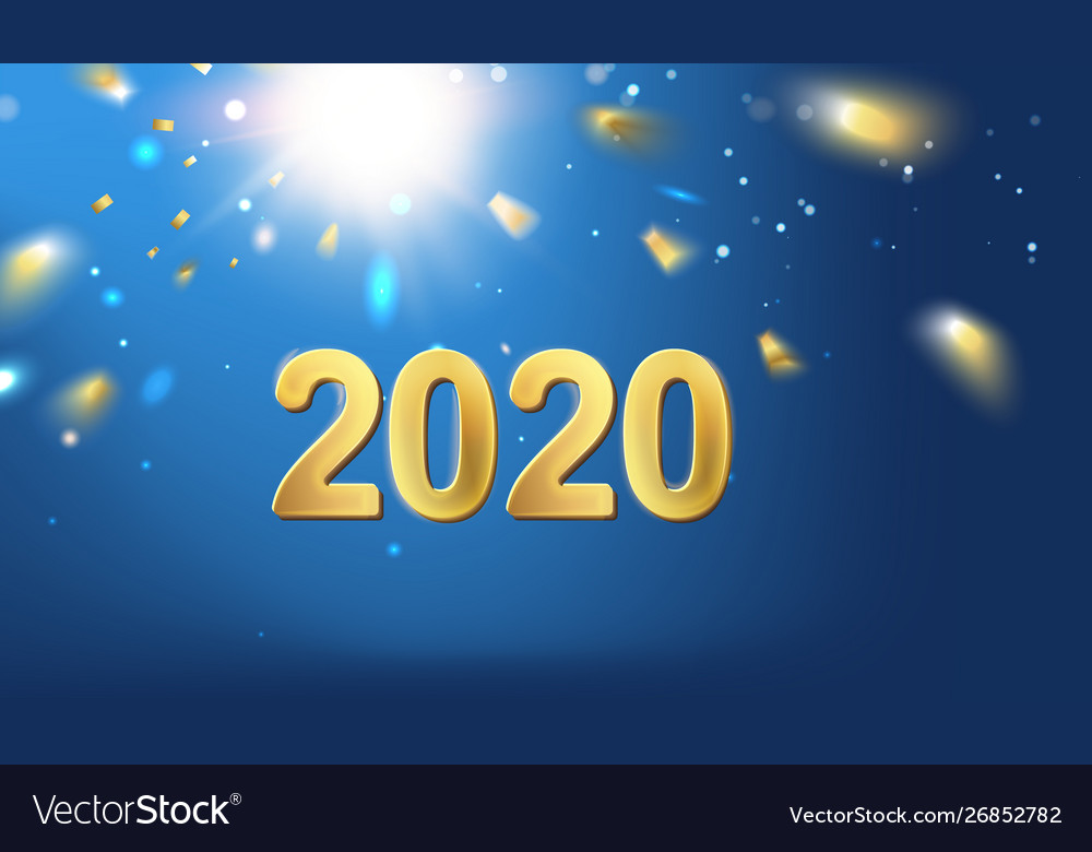 2020 new year background holiday label with