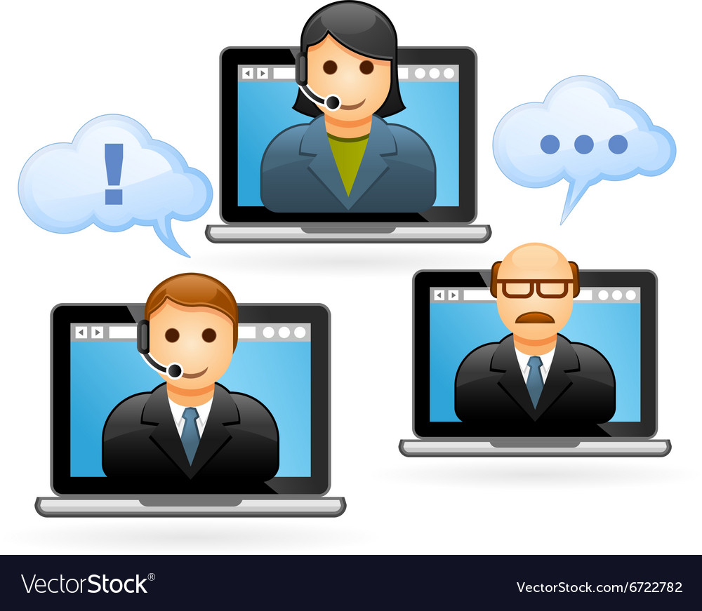Business people conference call - video conference vector image