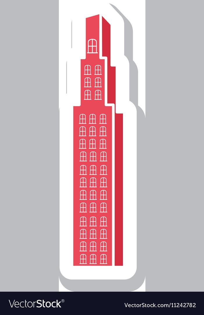 City building pictogram icon image