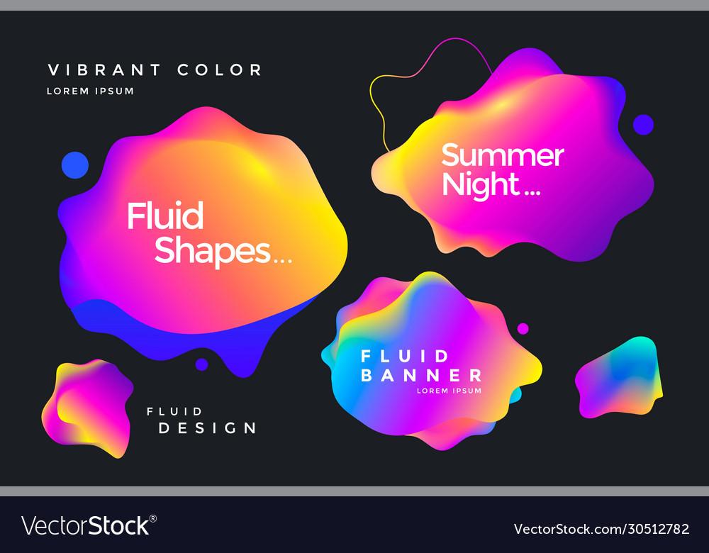 Creative design fluid banner
