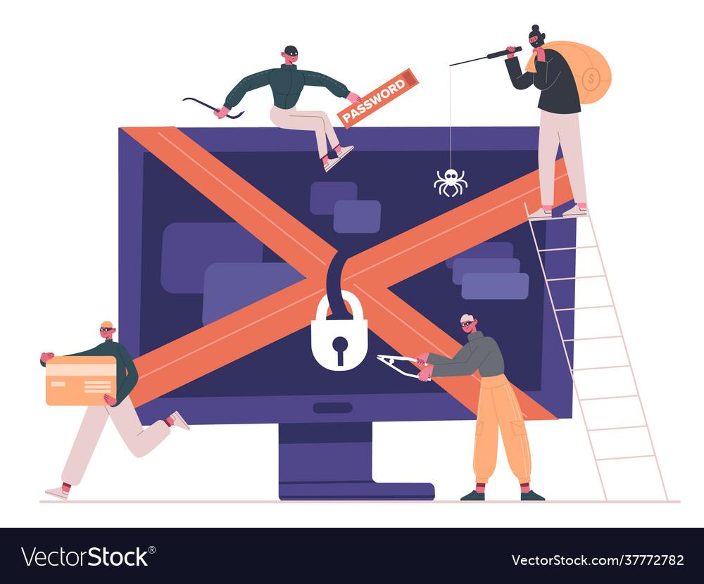 Cyber criminals and hackers internet criminals