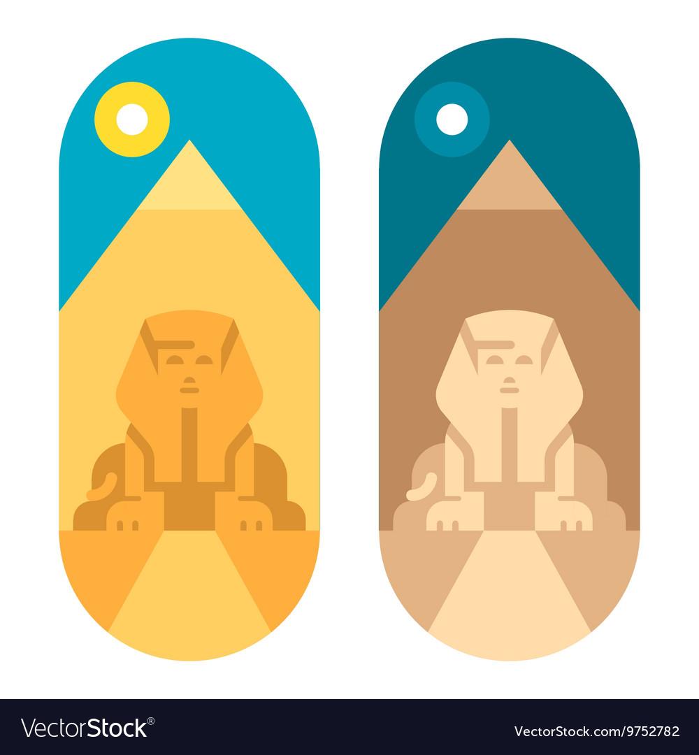 Flat design pyramid Giza