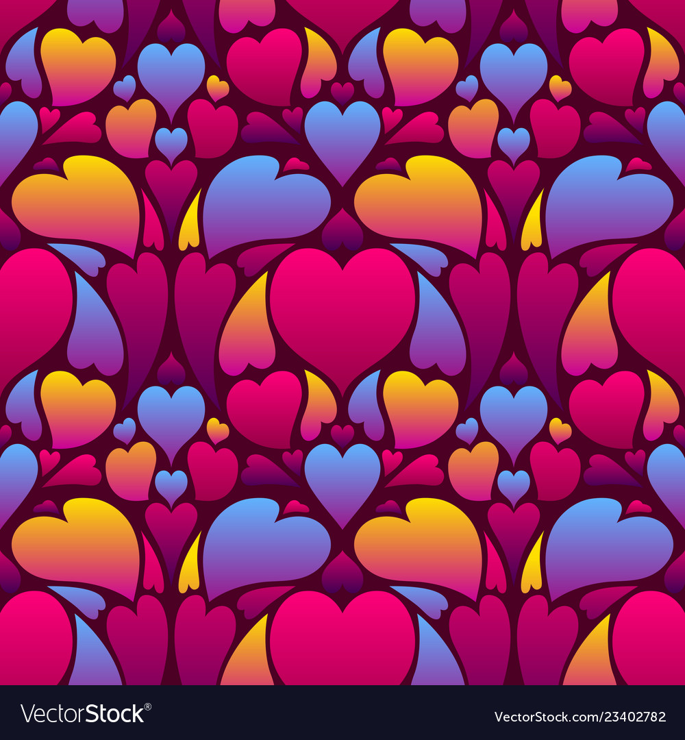 Happy valentine day seamless pattern