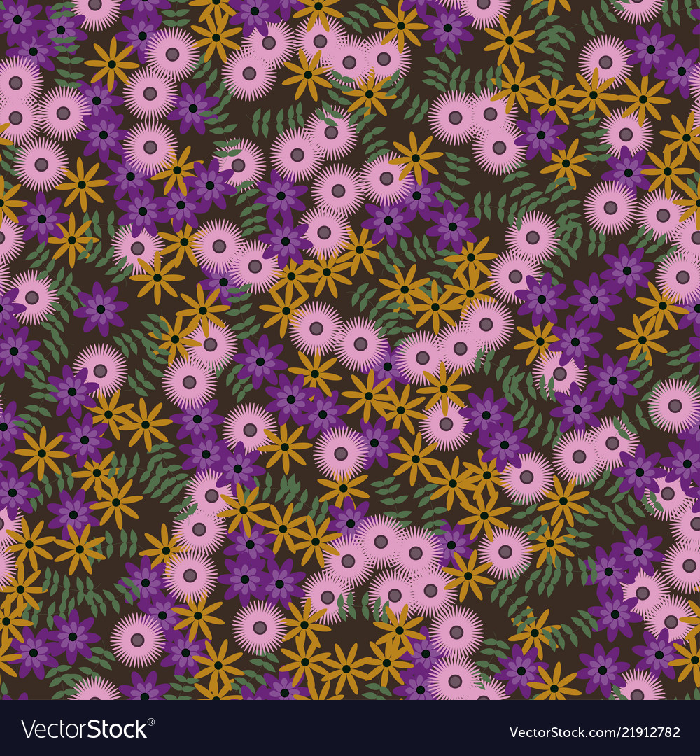 Multycolor floral seamless pattern