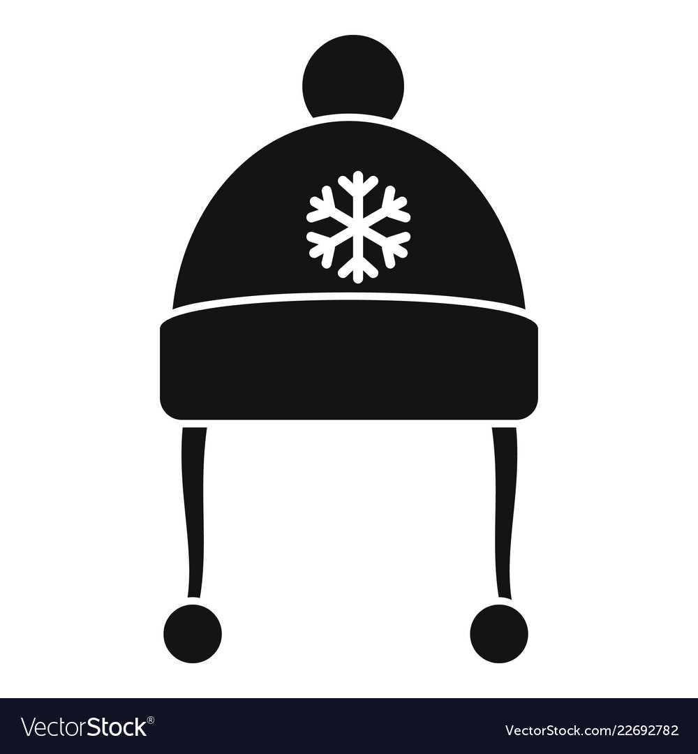 8676bf1af1d88 Red winter hat icon simple style Royalty Free Vector Image