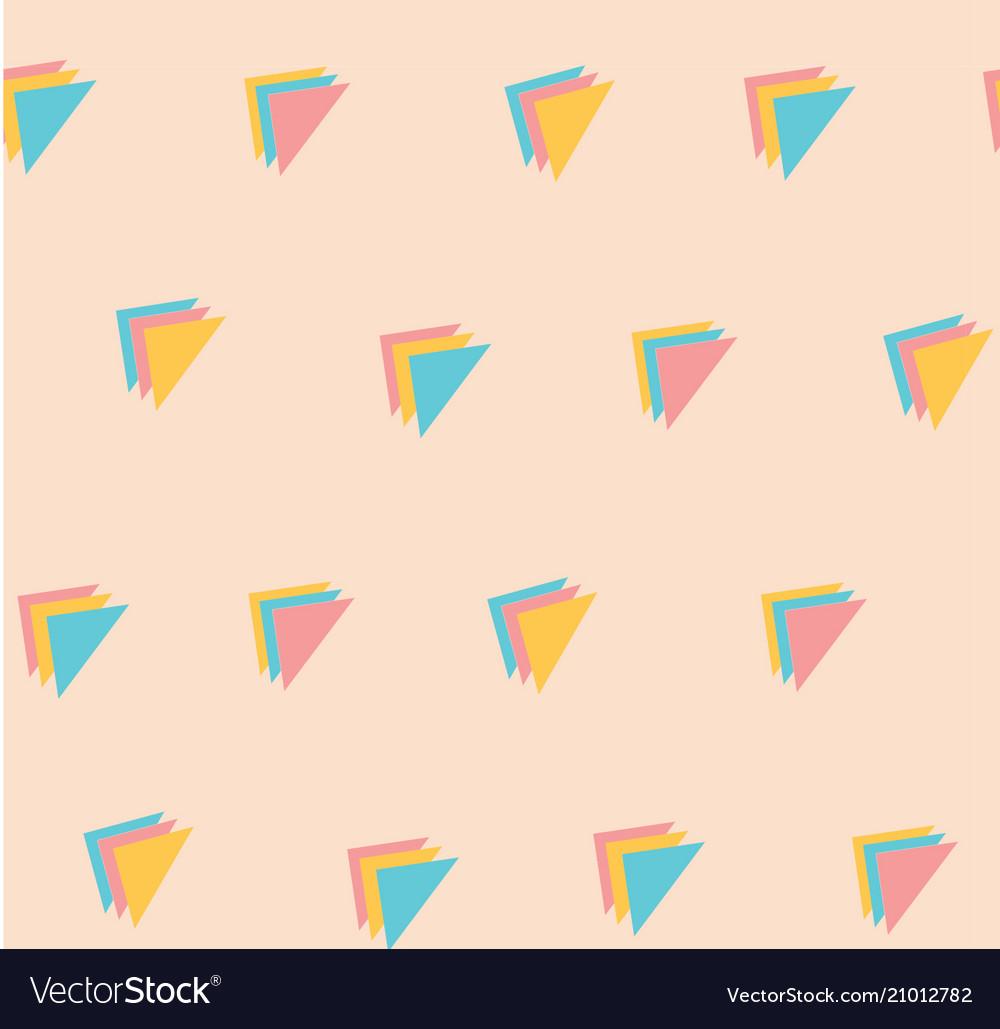 Sweet pastel triple triangle pattern seamless