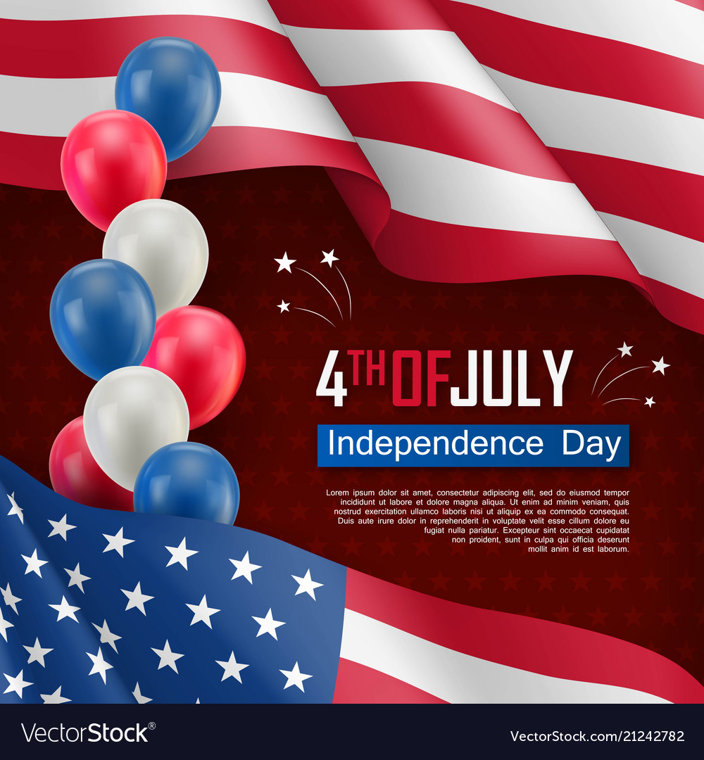 Usa independence day celebration poster