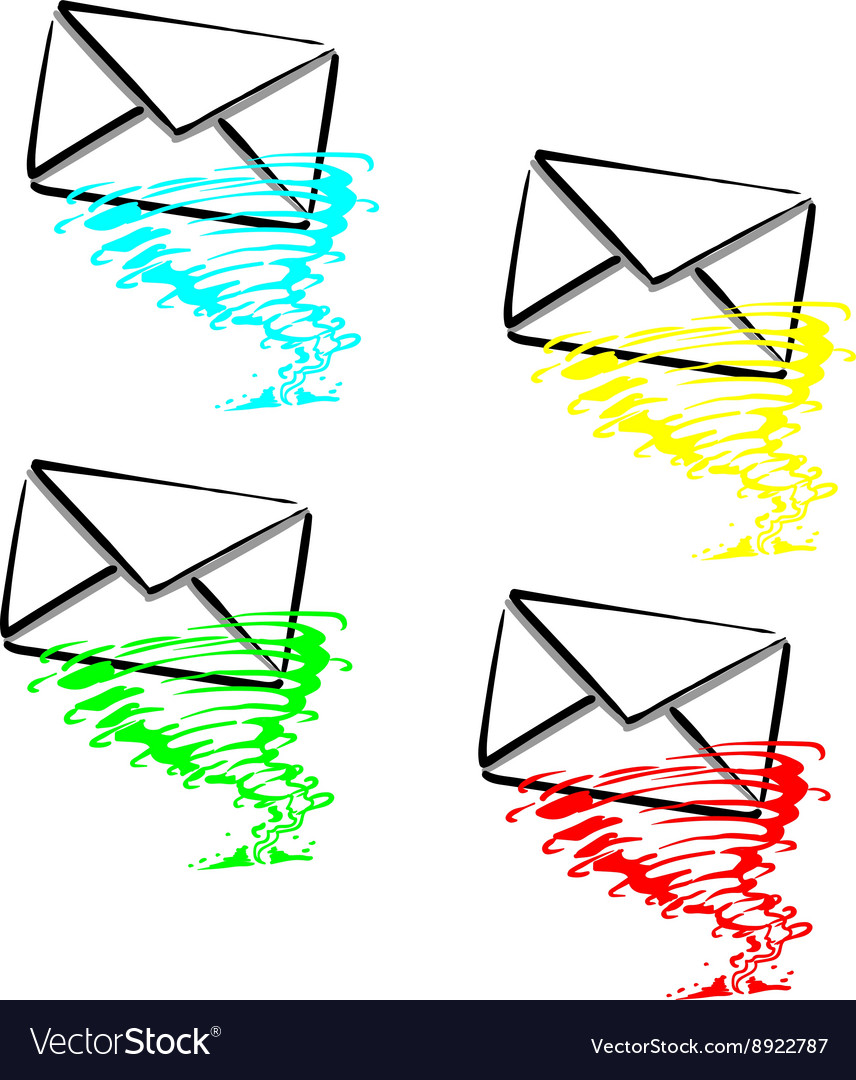 Express SMS message vector image