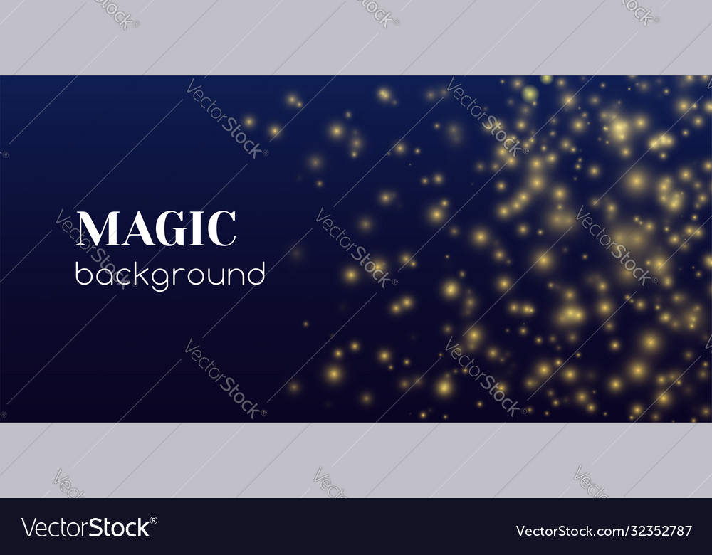 Magic shine abstract background gold