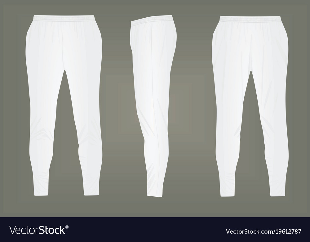 White tracksuit bottoms