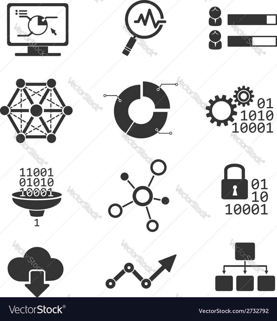 Data analytic icons