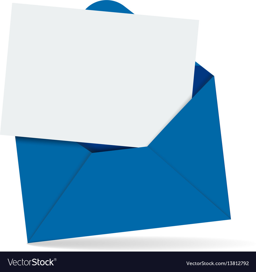 open envelope with letter royalty free vector image
