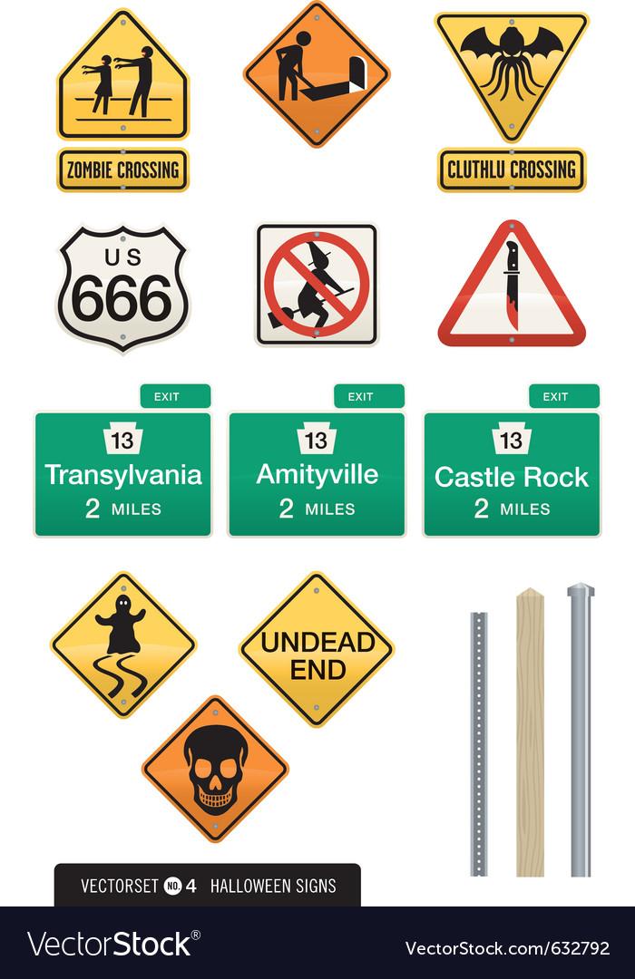 Set of 12 halloween sign s