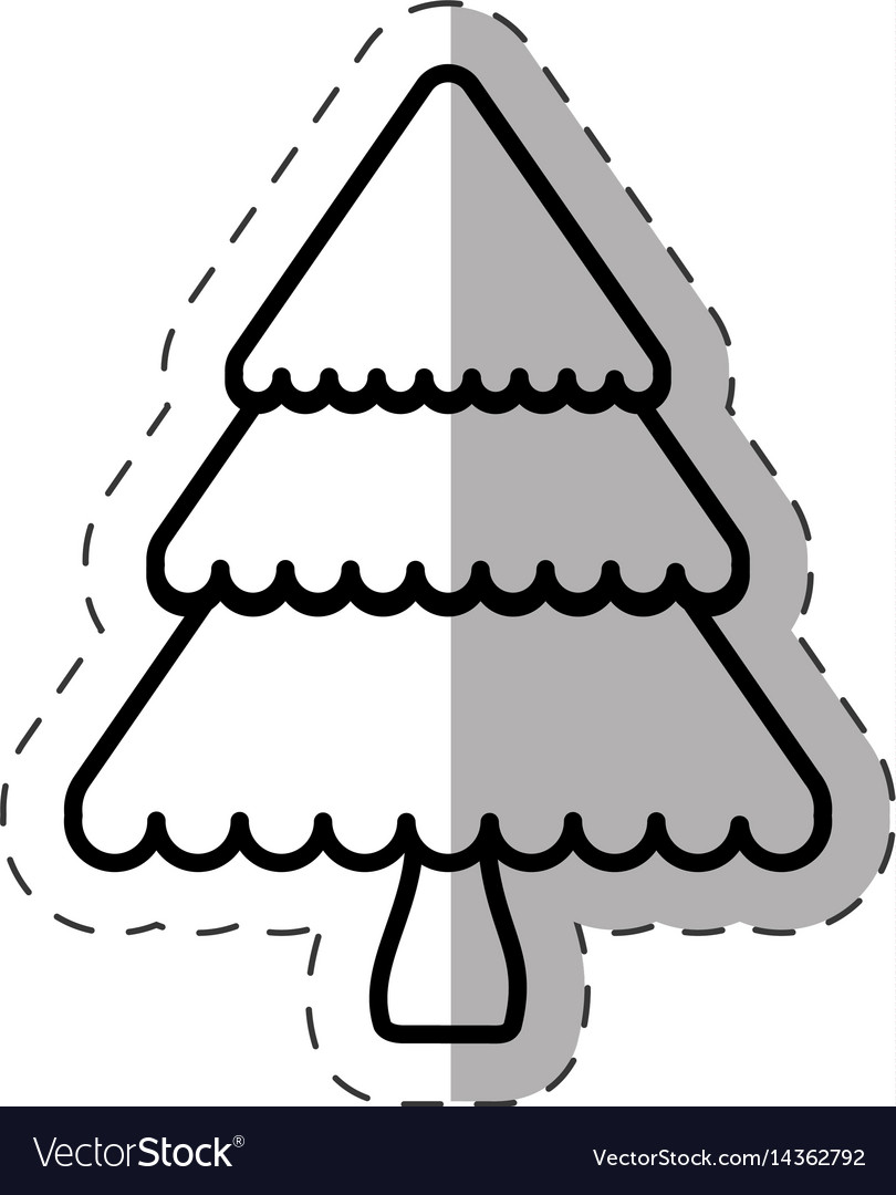 Tree pine christmas line