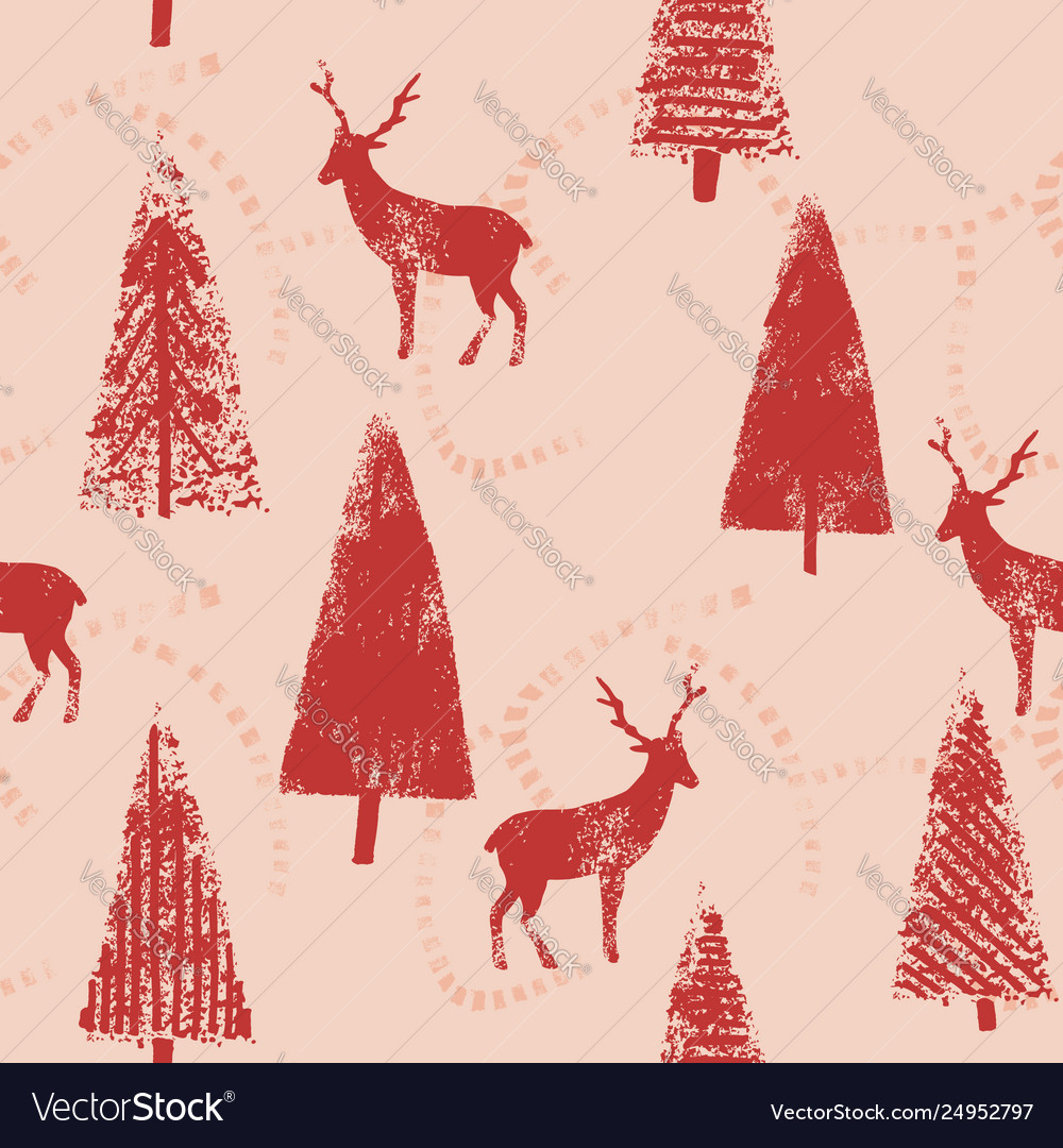 Christmas forest landscape seamless wrapping