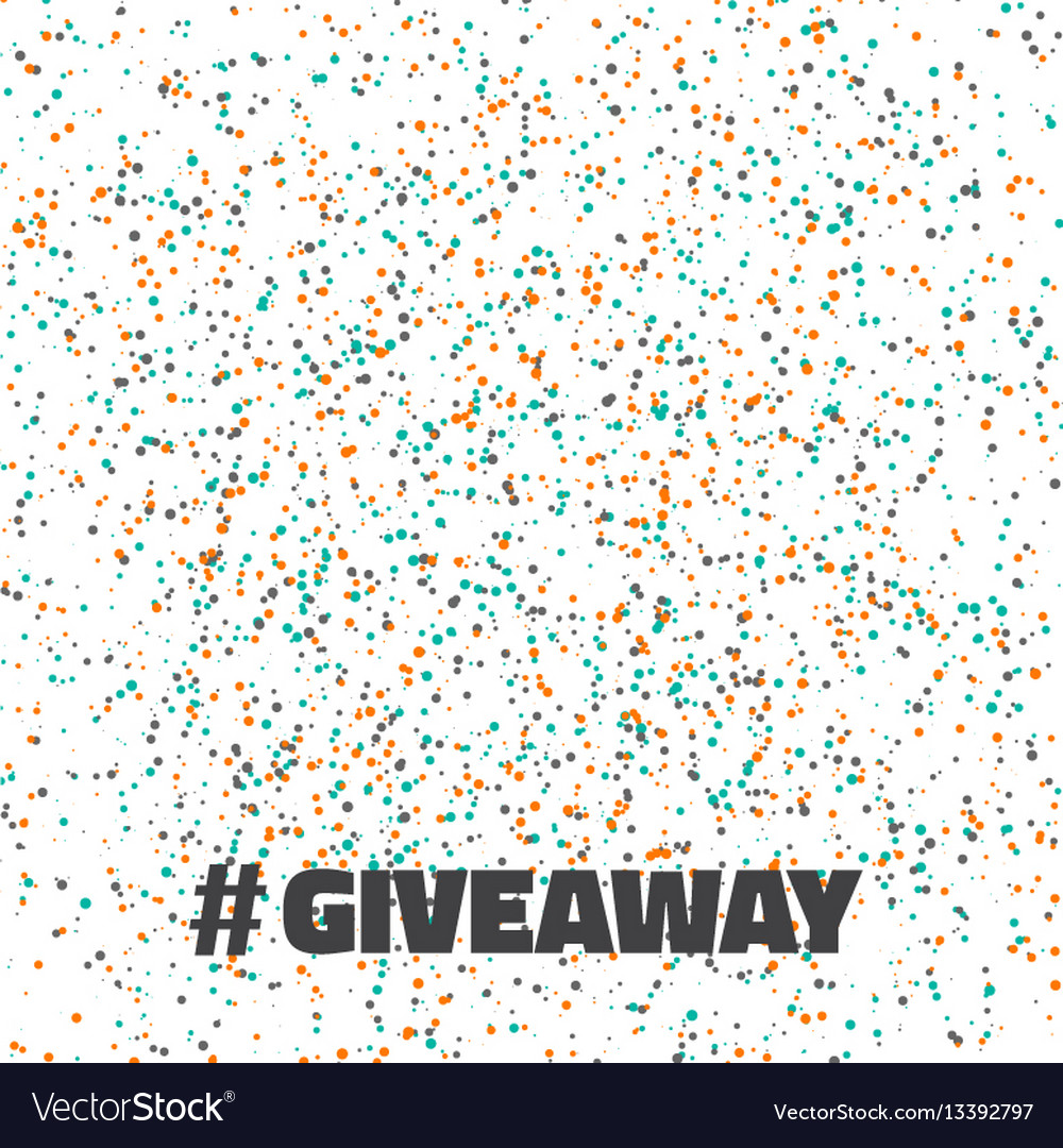 glittering confetti giveaway competition template vector image