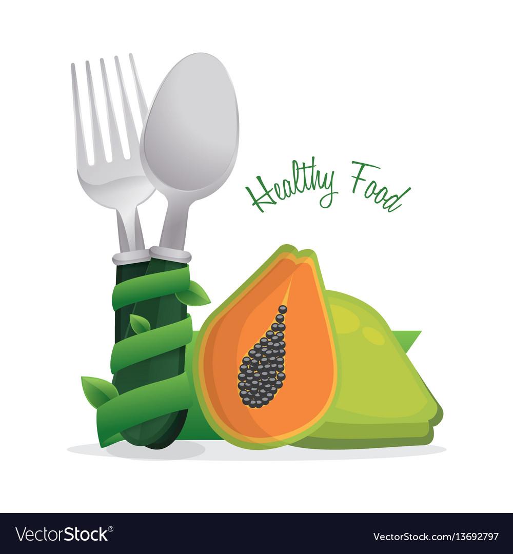Healthy food diet cook poster