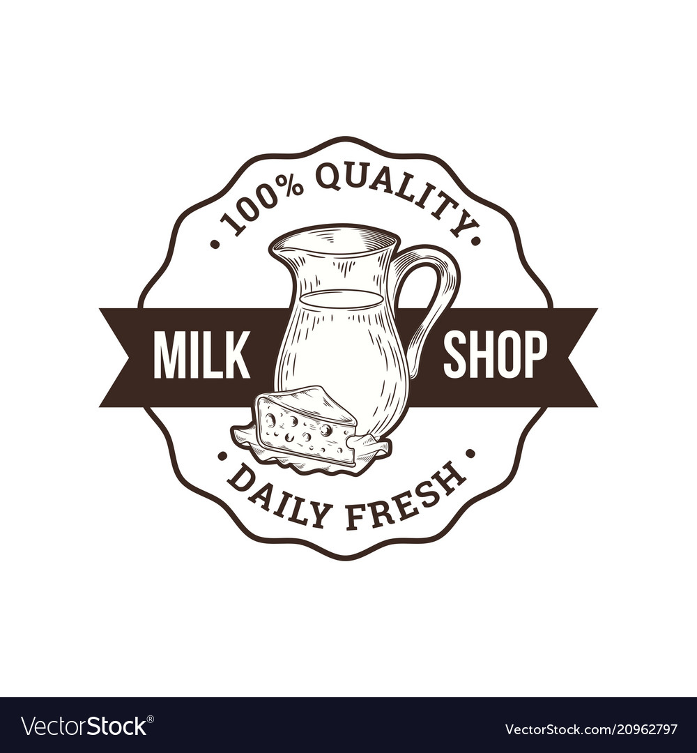 Milk shop logo
