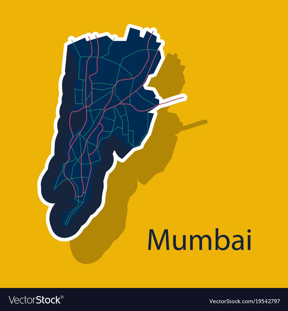 Sticker map of mumbai