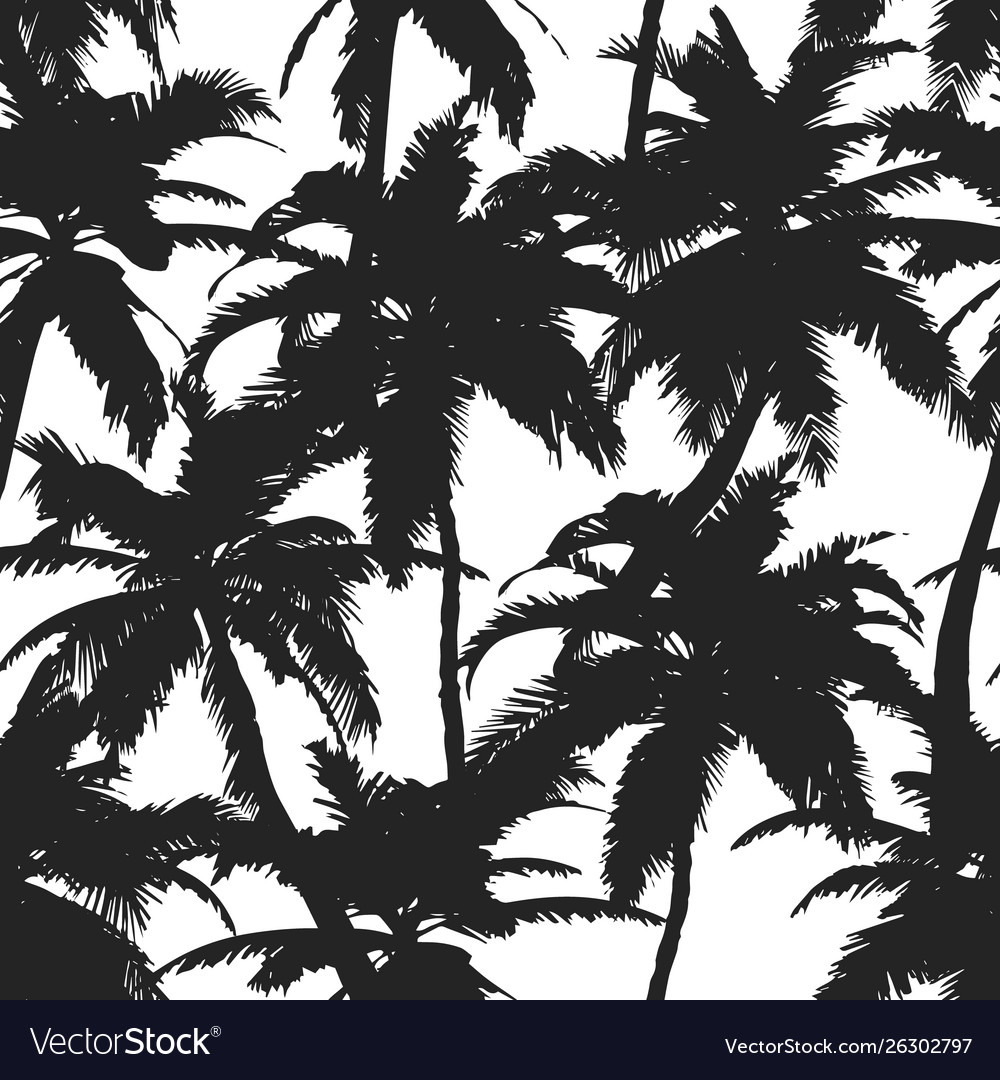 Summer pattern with tropical palm treesfor
