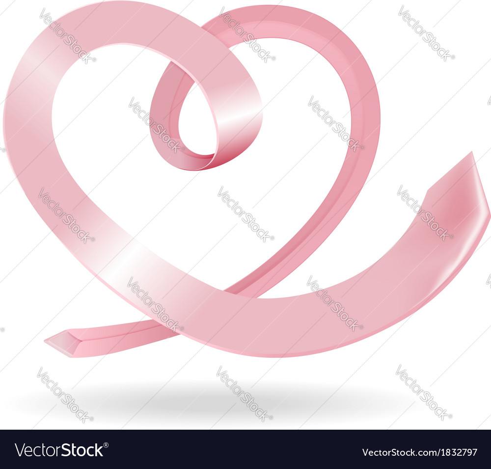 Tie in the shape of heart