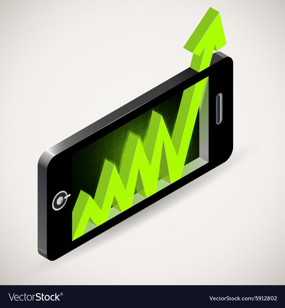 Arrow graph up Chart showing success Business grow