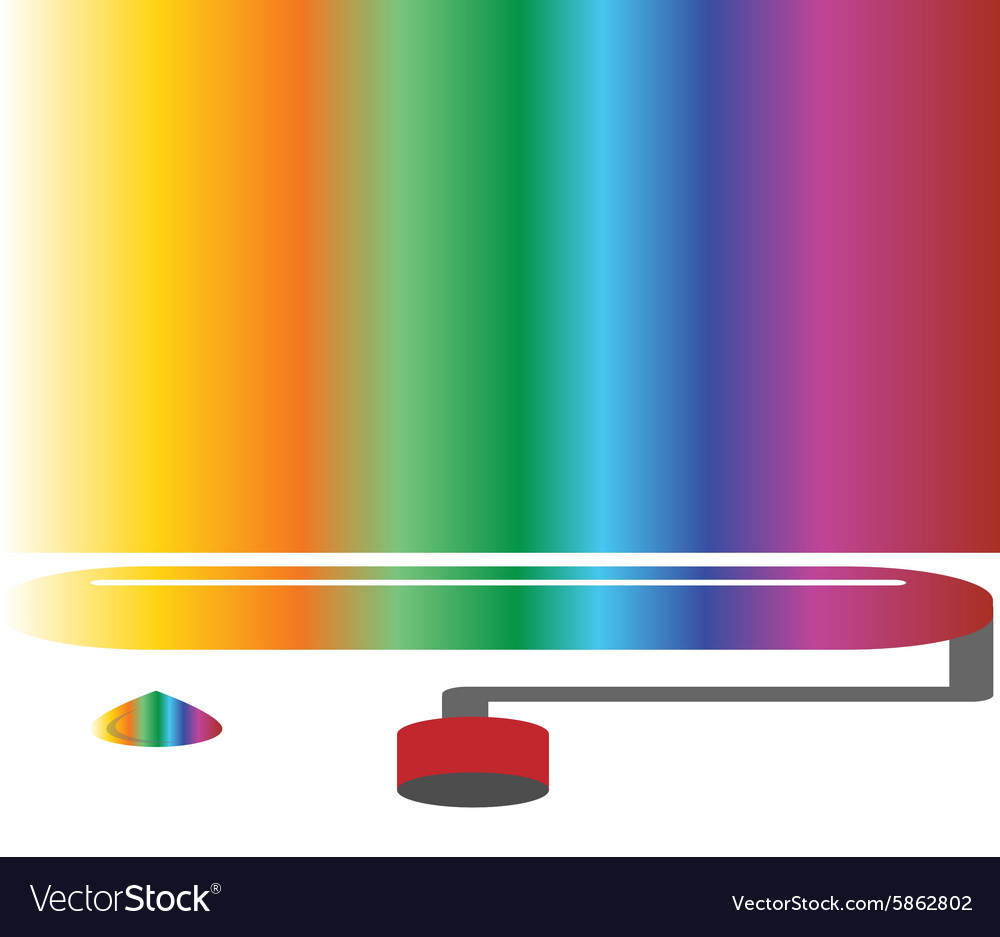 Coloured rainbow art concept vector image