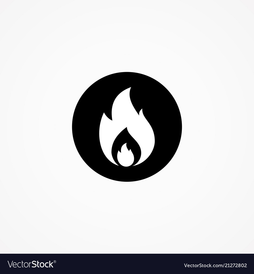 Fire silhouette vector