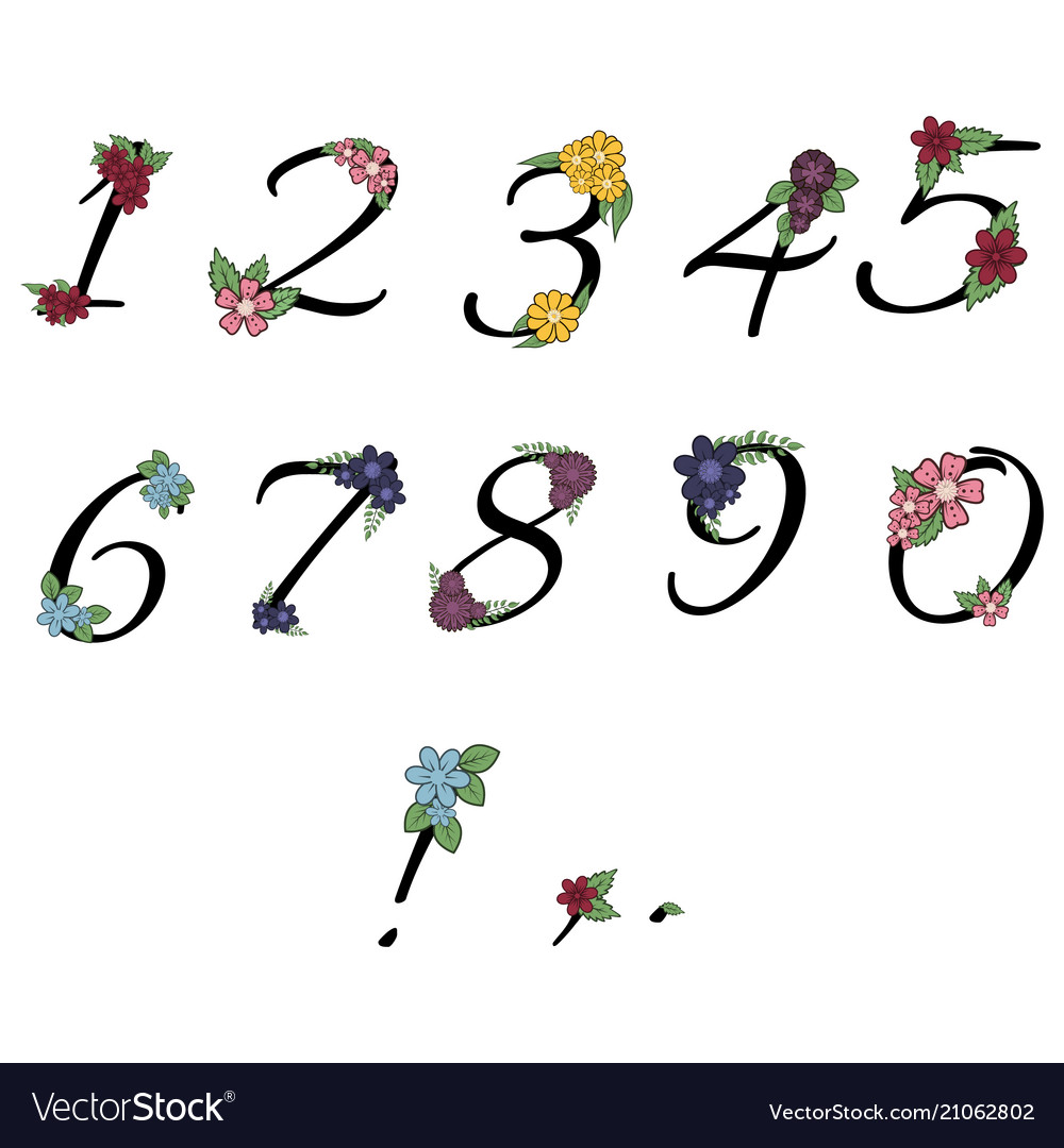 Floral numbers collection