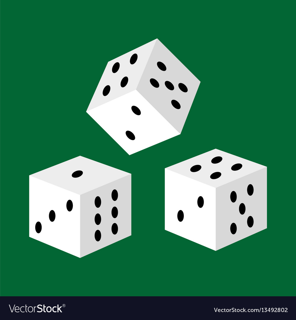 Gambling white dice for casino risk and success
