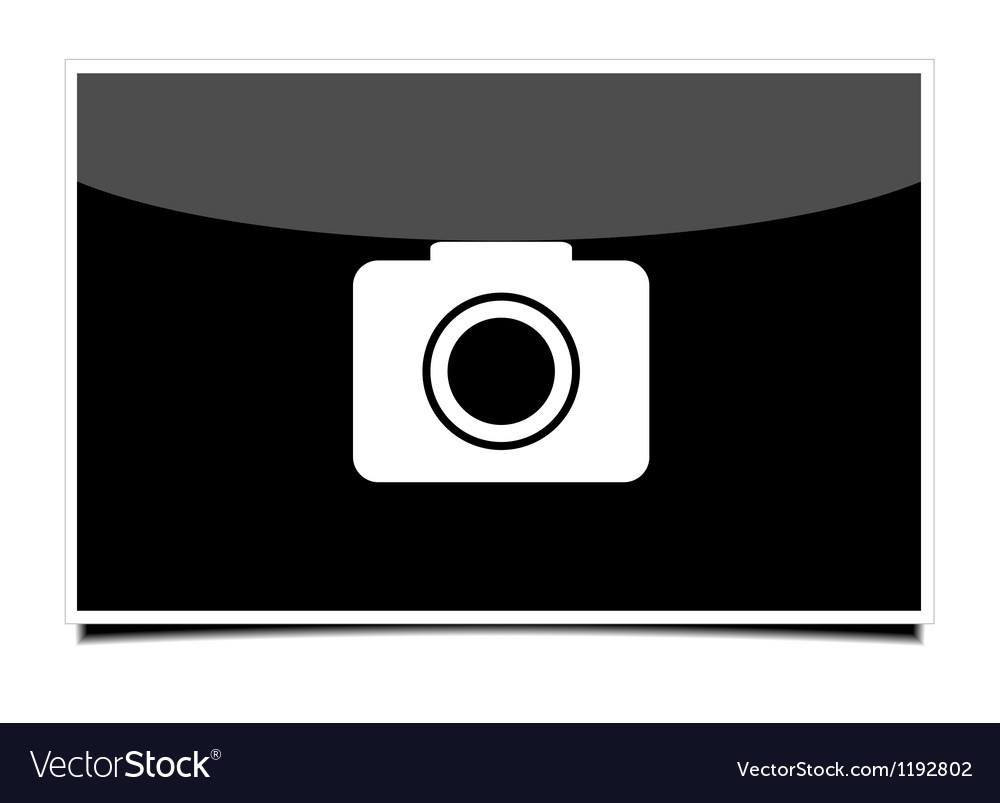 Photo on gray background Eps 10 vector image