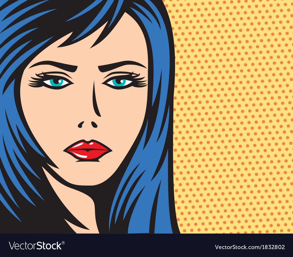 pop art woman royalty free vector image vectorstock