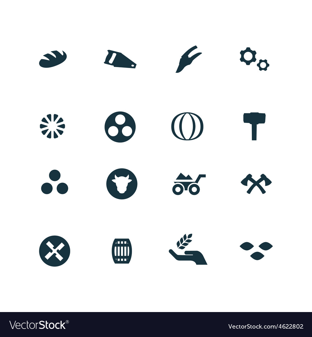 Set of agriculture farm icons
