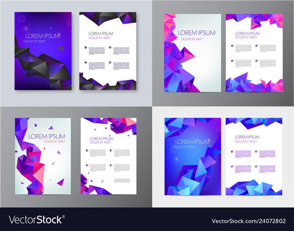 Set of brochure design templates cover