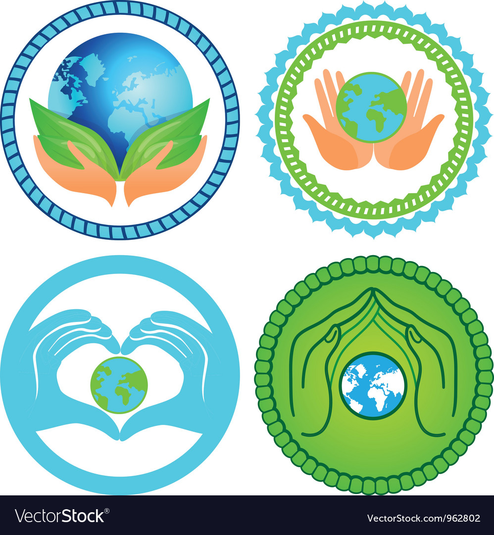 Set of ecology emblems