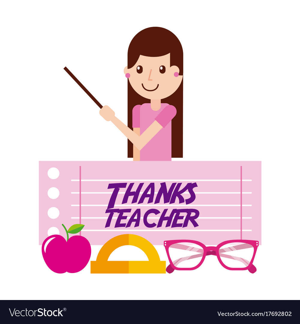 Thanks Teacher Blackboard Vector Images 36