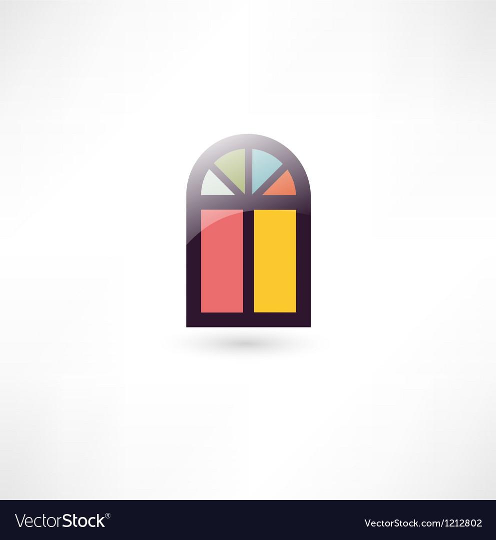 Window icon vector image