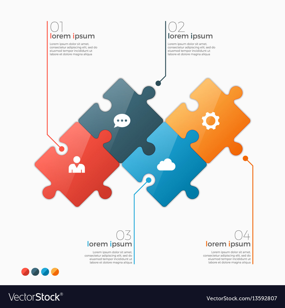4 options infographic template