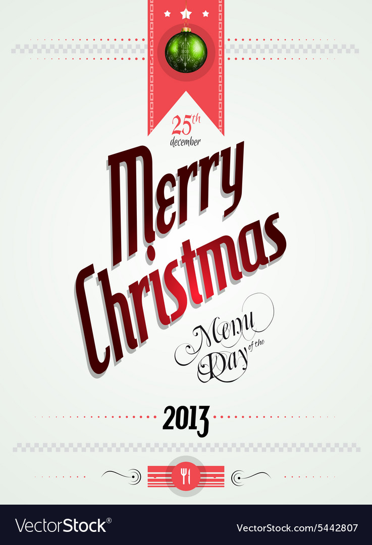 Christmas menu of the day template vector image