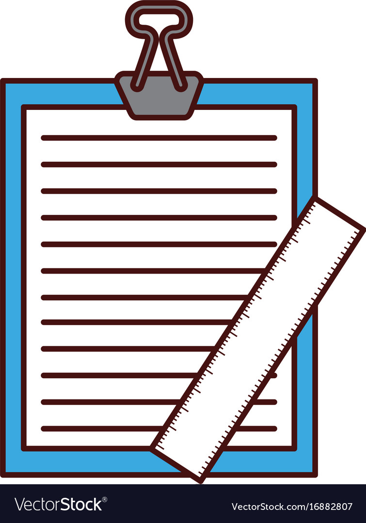 Clipboard paper with rule