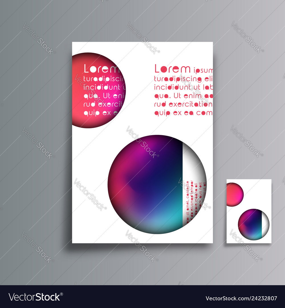 Cover minimal design abstract gradient background