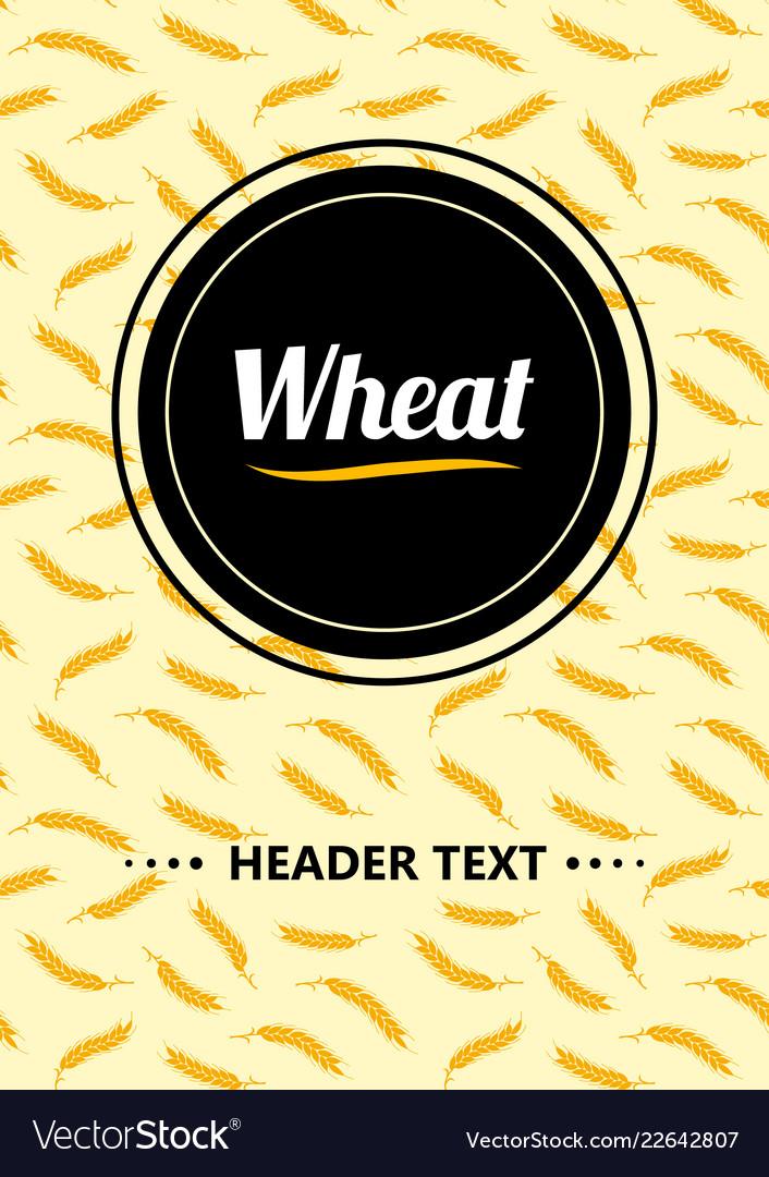 Design cover gold wheat ears organic wheat bread