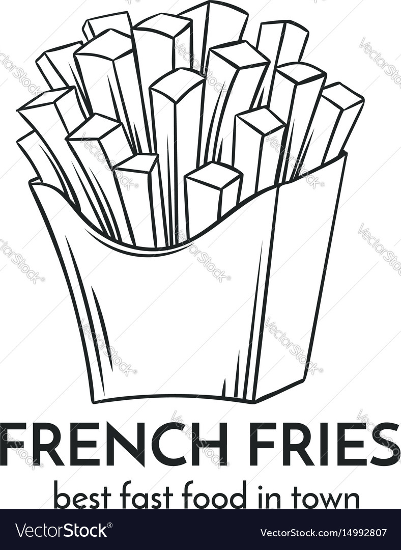 Hand drawn french fries icon