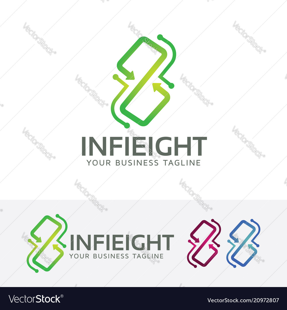Infinity eight logo design