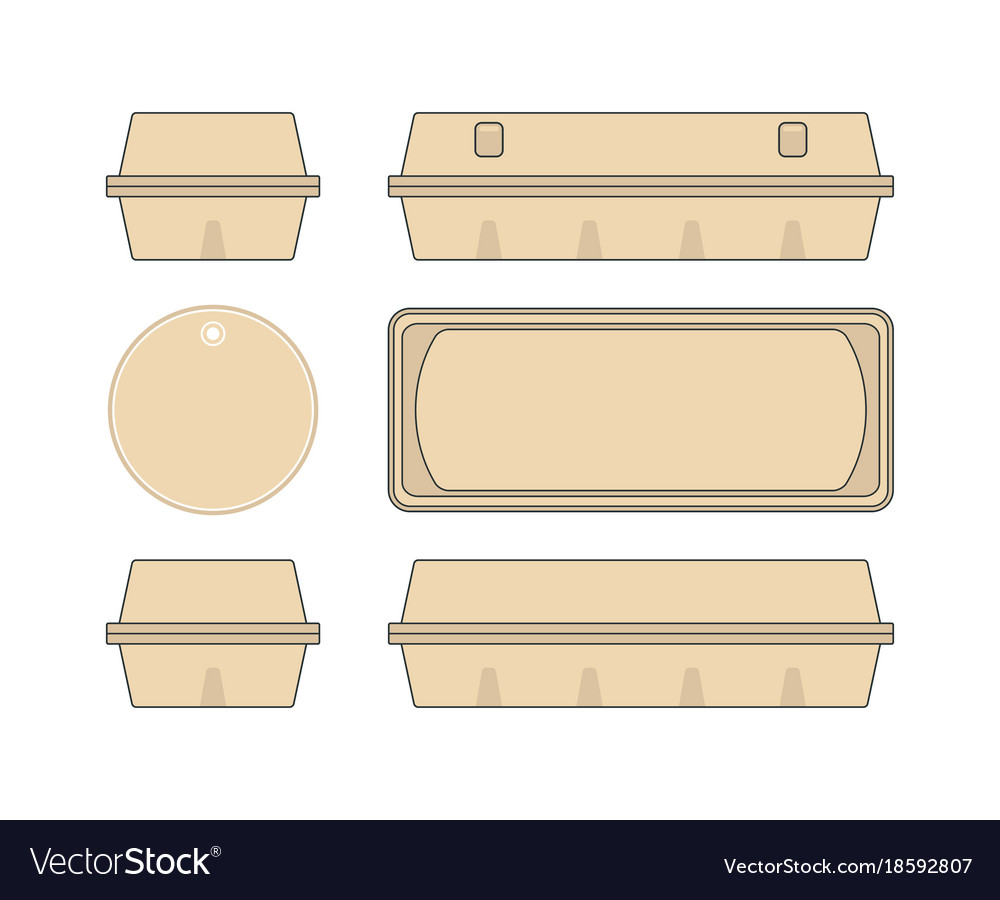 Stock template box for chicken eggs