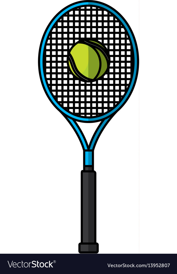Tennis racket isolated icon