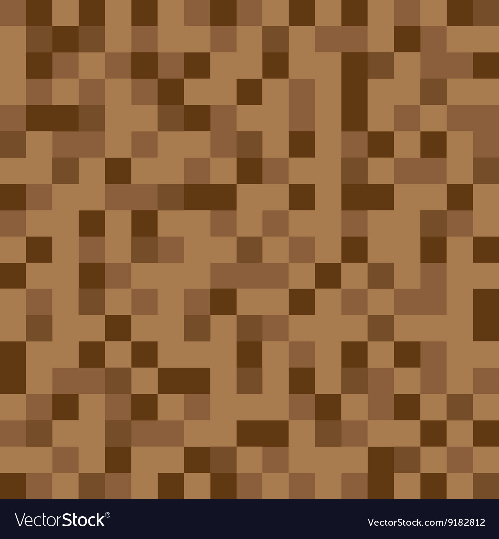 Abstract Block Texture Brown Pixel Royalty Free Vector Image