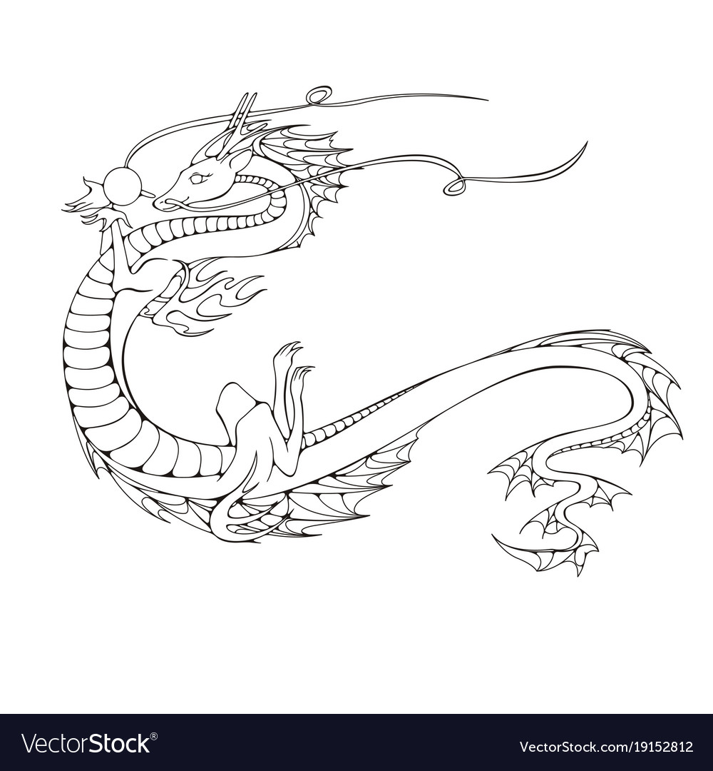 Asian dragon symbol of the 2024 year