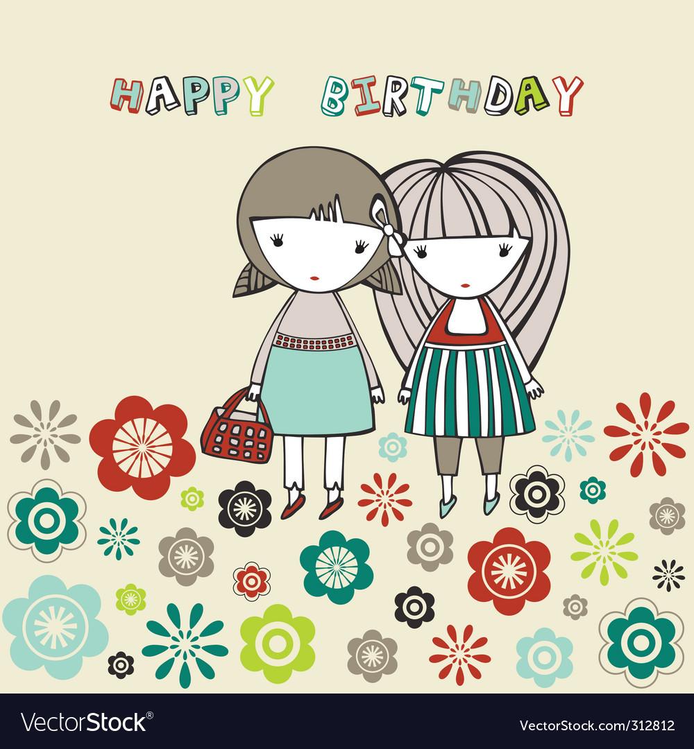 birthday card royalty free vector image  vectorstock
